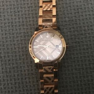 Burberry Rose Gold Watch